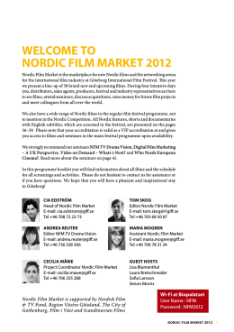 Welcome to Nordic Film market 2012