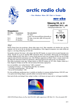 MVE 53-4 - Shortwave Bulletin