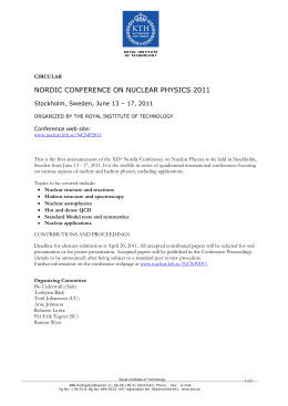 nordic conference on nuclear physics 2011