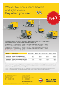 Wacker Neuson surface heaters and light towers: Pay when you use!