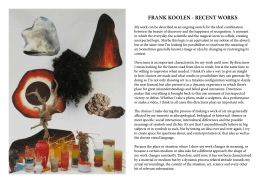 FRANK KOOLEN - RECENT WORKS