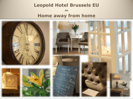 View the brochure - Leopold Hotel Brussels