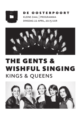 Programma The Gents en Wishful Singing.indd