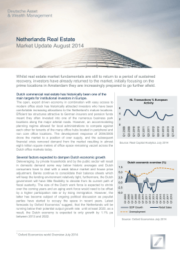 Netherlands Real Estate Market Update August