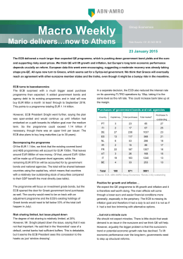 Macro Weekly Mario delivers…now to Athens