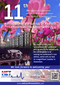 Monday 18 May and Tuesday 19 May 2015 Amsterdam, The