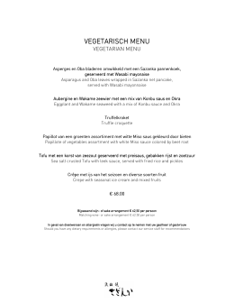 Vegetarisch menu