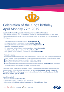 Celebration of the King`s birthday April Monday 27th 2015