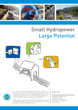 Small Hydropower Large Potential