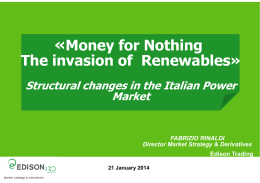 «Money for Nothing The invasion of Renewables»