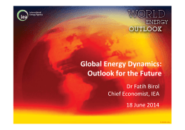 Global Energy Dynamics: Outlook for the Future