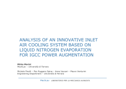 ANALYSIS OF AN INNOVATIVE INLET AIR COOLING SYSTEM