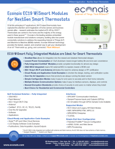 Econais EC19 WiSmart Modules for NextGen Smart Thermostats