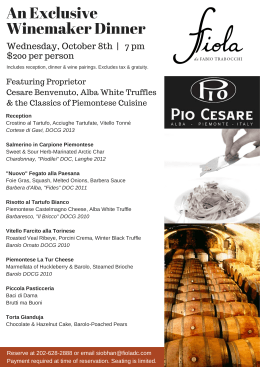 Pio Cesare Invitation