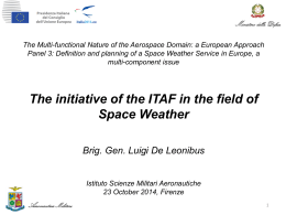 ITAF approaching the field of Space Weather