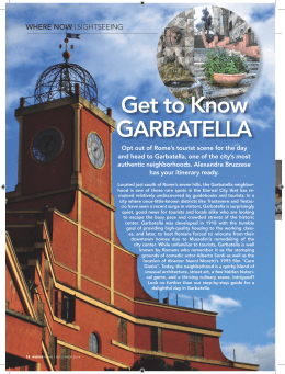 Get to Know GARBATELLA