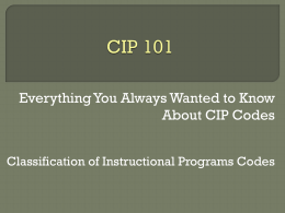 CIP: 101 - The University of Texas at Austin
