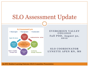 SLO Assessment Update PDD 8-30-12