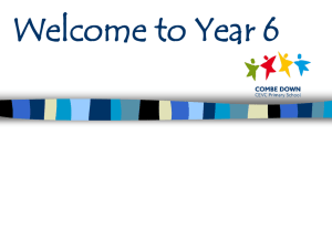 Welcome to Year 6 - Combe Down Primary School