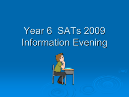 Year 6 SATs 2009 - Somerset Learning Platform
