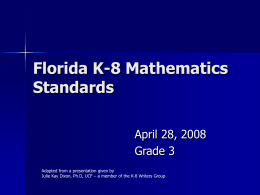 Grade 3 Math Standards - Santa Rosa County School District