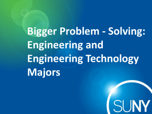 Bigger Problem-Solving - State University of New York