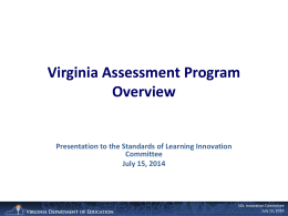 Grade 5 - Virginia Association of School Superintendents