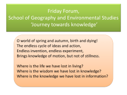 Geography challenges Thinking about a discipline Peter Wilde 9