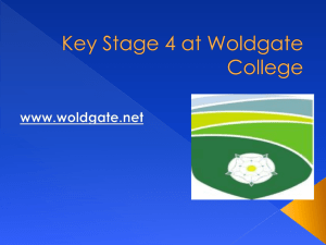 Key Stage 4 at Woldgate College
