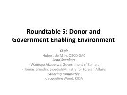 Roundtable 5: Donor and Government Enabling Environment