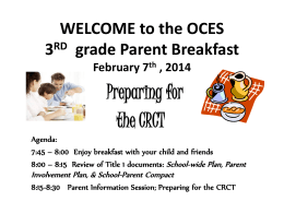 2014 Grade 3 Winter parent breakfastx
