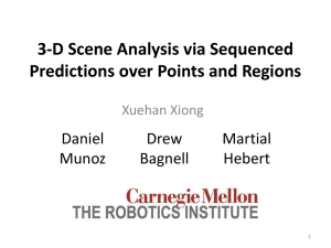 3-D Scene Analysis via Sequenced Predictions over Points and
