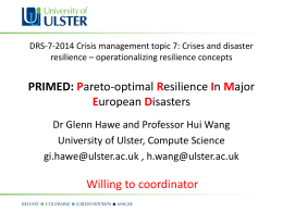 DRS-7-2014 Crisis management topic 7: Crises and disaster