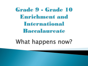 Grade 9 to 10 Transitioning - North Battleford Comprehensive High
