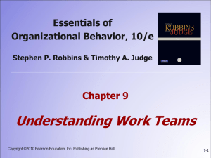 9: Understanding Work Teams
