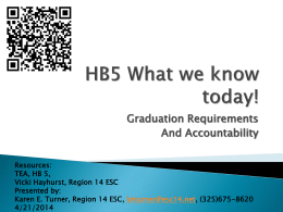 HB 5 What we know today!