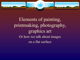 Elements of painting printmaking photography