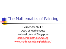 The Mathematics of Painting