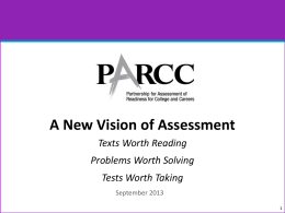 A New Vision of Assessment PPT