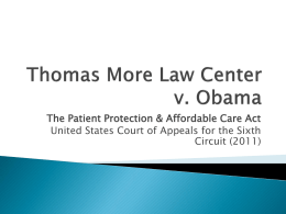 Thomas More Law Center v. Obama