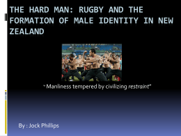 Rugby : Masculine Restraint