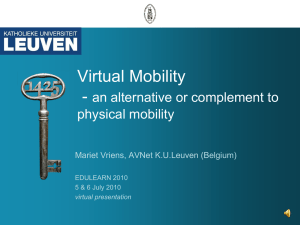 Virtual Mobility as an alternative or complement to physical