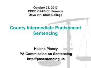 County Intermediate Punishment Sentencing