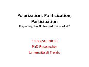 Polarization, Politicization, Participation. Projecting the EU beyond