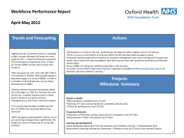 HR Performance Report Quarter 4 Jan * March 2012