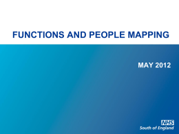 Functions and People Mapping - May 2012