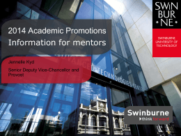 2014 Academic Promotions - Information for mentors