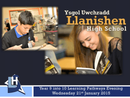 Year 9 into 10 Learning Pathways Evening January 2015[2]