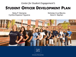 Student Officer Leadership and Civic Development