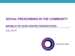 Social Prescribing in the Community